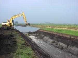 Graafwerkzaamheden polderlandschap